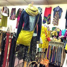 Reversible skirt size M, baby phat jacket size S, j crew cardigan size M. DKNY cross body bag.