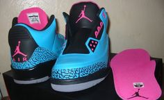 """Air Jordan 3 """"South Beach"""" Custom.... love these shoes just not in this color for J"""