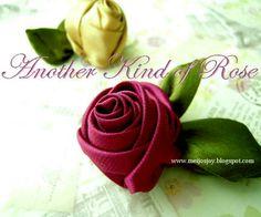 Walnut Fabric / Ribbon Rose Tutorial