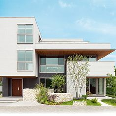 ギャラリー BF GranSQUARE|一戸建て木造注文住宅の住友林業(ハウスメーカー) Custom Homes, Facade, Garage Doors, Modern Homes, Carriage Doors, Home Buying