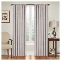 """Kendall Thermaback Blackout Curtain Panel Grey (42""""x63"""") - Eclipse"""