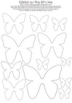 ♥ Miss Cutiepie Inspiration - Freebies & Inspiration ♥: :: Gör dina egna Fjärilar! ::