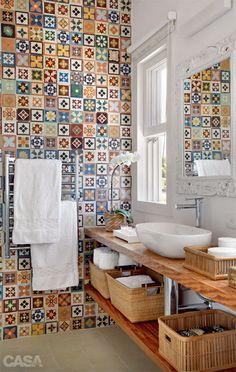 Construindo Minha Casa Clean: Bancada dos Banheiros