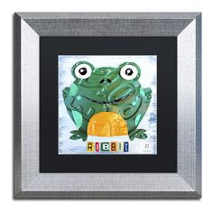 Ribbit the Frog by Design Turnpike Framed Graphic Art