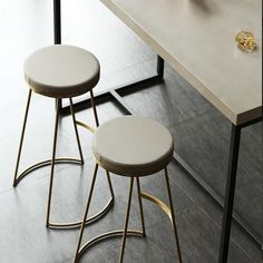 Perfect pulled up to a glam home bar or eclectic kitchen island setting, this stool gives your guests a seat and your en Boutique Interior, Kitchen Stools, Counter Stools, Brass Bar Stools, Kitchen Island, Metal Chairs, Bar Chairs, Unique Furniture, Kitchen Furniture