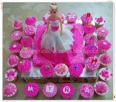 Resultado de imagem para cupcake da Barbie