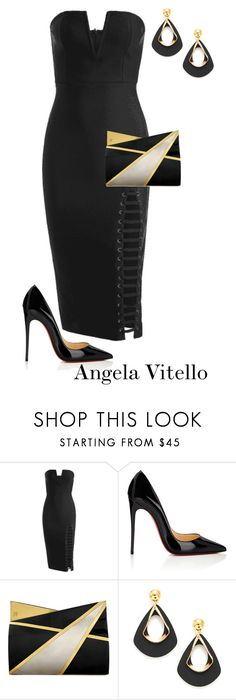 """""""Untitled #1113"""" by angela-vitello on Polyvore featuring Christian Louboutin and Jill Haber"""