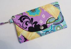 Purple tones woman wallet wristlet and by CountingTreasures