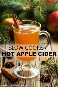 If you are feeling extra ambitious you can serve this slow cooker hot apple cider in cored out apple cups or drizzle with whip cream and butterscotch.