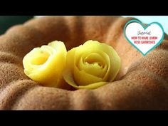 Tutorial: How To Make Roses with Lemon Peels - YouTube