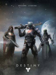 Will be playing me some Destiny my PSN ID is Panda84911  Destiny Poster by Dimitri Morson