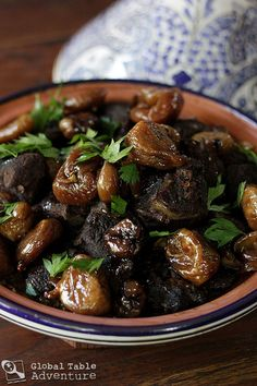 I made this tagine with goat and dried figs (this one uses lamb, but I just cooked it longer) Moroccan Party Food, Morrocan Food, Moroccan Dishes, Moroccan Recipes, Oriental Recipes, Oriental Food, Tagine Recipes, Lamb Recipes, Cooking Recipes