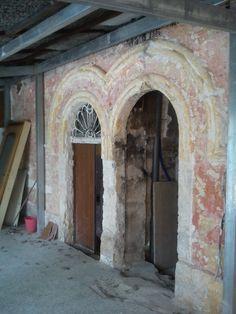 1 - Ricostruzione portale in tufo - prima dei lavori