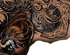 "Check out new work on my @Behance portfolio: ""tattoo FenriR"" http://on.be.net/1If7JNK"