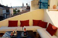 La joie d'une terrasse gagnée sur la toiture