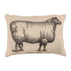 19th century print Cotswold sheep Accent Pillow - chic design idea diy elegant beautiful stylish modern exclusive trendy