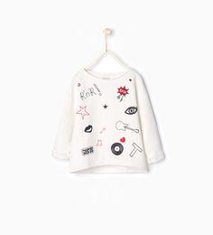 Image 1 de Sweat à broderies de Zara