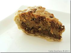 Best Pie Ever! Baked's Tuscaloosa Tollhouse Pie. Cross between a gooey chocolate chip cookie and a pecan pie.