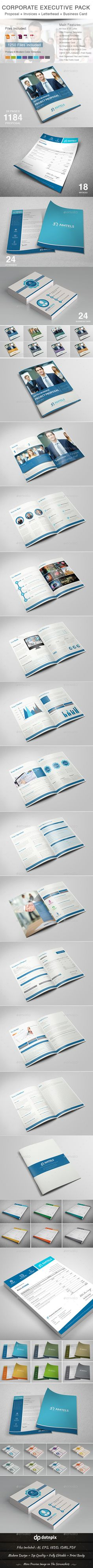Corporate Executive Pack — Vector EPS #stationery business pack #print template • Available here → https://graphicriver.net/item/corporate-executive-pack/11123008?ref=pxcr