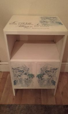 owls and quote vintage shabby chic bedside x