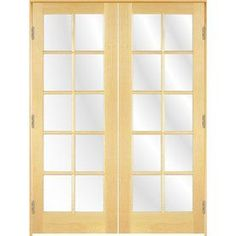ReliaBilt 10 Lite French Solid Core Smooth Pine Universal Interior French  Door (Common: