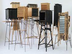 David Gates. Studio / Workshop Crate Furniture, Furniture Making, Modern Furniture, David Gates, Architectural Sculpture, Cube Storage, Cabinet Makers, Modern Contemporary, Sweet Home