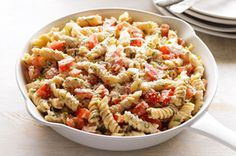Rotini with Fresh Tomatoes & Basil -- trying this recipe out tonight