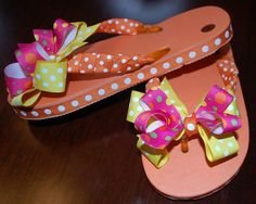 cac7ee450d4413 88 best flip flops with bows images on Pinterest