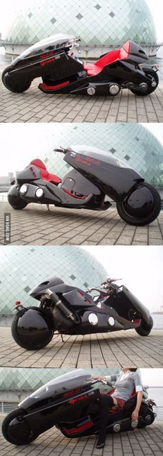 A real AKIRA motorcycle! Any tailor made street bike is a distinctive bike while using Futuristic Motorcycle, Futuristic Cars, Motorcycle Bike, Anime Motorcycle, Concept Motorcycles, Cool Motorcycles, Triumph Motorcycles, Bike Motor, Harley Davidson