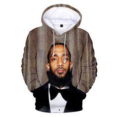 Nipsey Hussle Hoodie Sweatshirts Plus Size Streetwear Tops Spring Hoodies Men Women Hooded Pullover Tracksuit Rapper Hoodies, Hip Hop Outfits, Mens Sweatshirts, Fashion Sweatshirts, White Hoodie, Long Hoodie, Casual Tops, Streetwear Fashion, 3 D