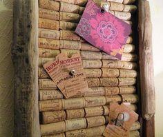 Enthused Monkey: Crafty DIY : Wine Cork Pinboard