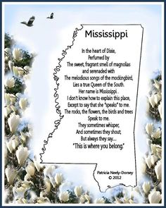 Mississippi. I'm proud to call it home.