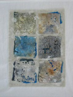 Textile Work | Deborah Rehmat. Dyed and stitched fabric and paper.