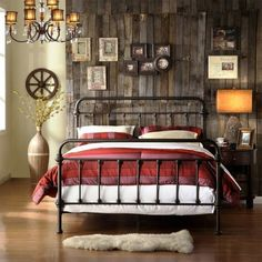 Weston Home Antique Bronze Full Bed, Brown Get the perfect camping gear for your camping needs Iron Headboard, Headboard And Footboard, Metal Headboards, King Headboard, Antique Headboard, Diy Home Decor Rustic, Cheap Home Decor, Wrought Iron Bed Frames, Diy Bett