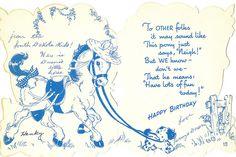 Inside of Pony Birthday Card