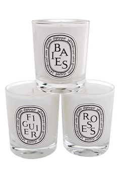 Diptyque votive set with my 3 favorite scents. The best gift!