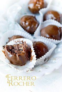 Domowe Ferrero Rocher (czekoladowo-orzechowe kulki w ...