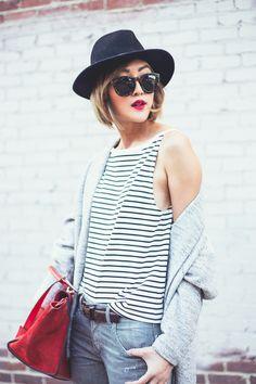 chriselle factor, chriselle lim, chriselle, ootd, striped shirt, parisian look, karen chen photography, animal print shoes