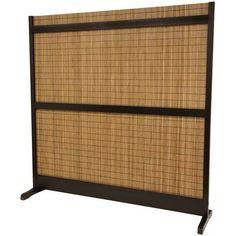 6¼ ft. Tall Take Room Divider - Walnut - OrientalFurniture.com