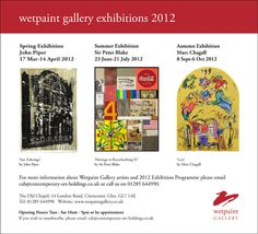 Wetpaint Gallery 2012 programme