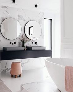 Home Decor Budget, Home Decor on a budget, Home Decor ideas, Home Decor Ensuite: Waschbecken Small Bathroom Sinks, Big Bathrooms, Bathroom Goals, Bathroom Trends, Budget Bathroom, Beautiful Bathrooms, Modern Bathroom, Bathroom Ideas, Marble Bathrooms