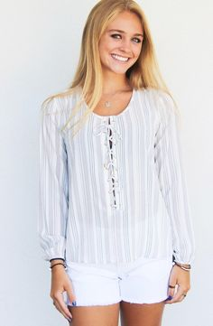 Over The Sea Top: Stripe $ 88