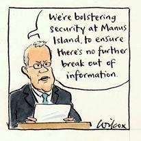 """We're bolstering security at Manus Island, to ensure there's no further break out of information.""  RIP Reza Berati #australia #auspol #tonyabbott #scottmorrison #stoptheboats #manusisland #rezaberati"