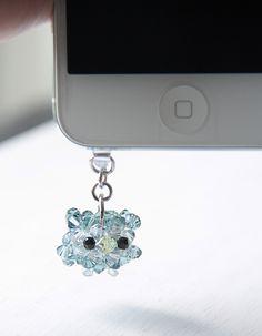 Owl iphone plug charm
