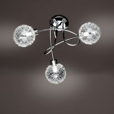 Deckenleuchte ARC 3flg Chrome Frame, Lamp, Ceiling Lights, Home Decor, Lights, Contemporary Design, Light, Chandelier, Metal