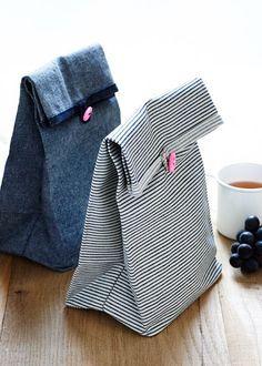 Bolsas de tela para el almuerzo, de Purl Bee