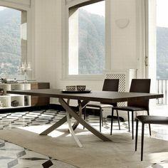 Bontempi Artistico | Dining Tables | Rectangular top | Wooden | Dining Room Ultra Modern
