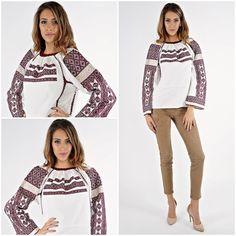 IA vintage, o bijuterie artizanala plina de viata<3 #romanianlabel #ievintage Unique Vintage, Graphic Sweatshirt, Sweatshirts, Sweaters, Blouses, Traditional, Fashion, Moda, Fashion Styles