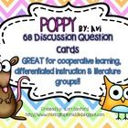 This set of 68 discussion cards (3-4 per chapter) is PERFECT for enhancing your novel study of Poppy!!!