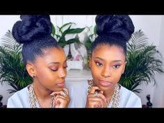 QUICK Holiday Style  5 Minute Bun Updo [Video] - Black Hair Information